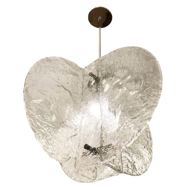 Textured Murano Chandelier by Mazzega, Italy, 1960s For Sale