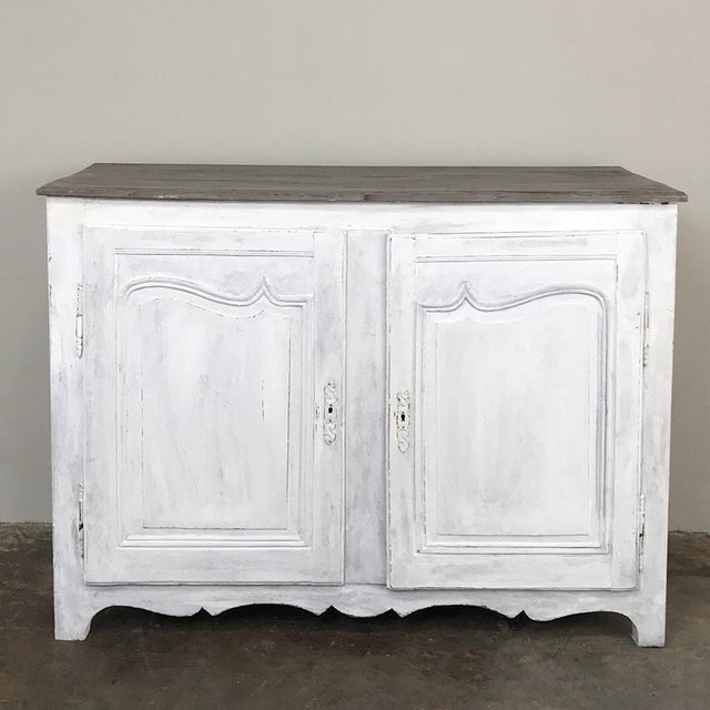 Mid 18th Century 18th Century Country French Provincial Painted Buffet For Sale - Image 5 of 13