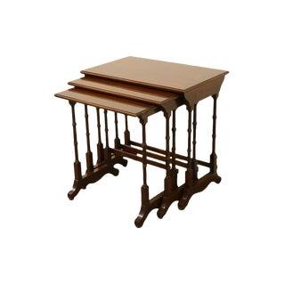 Ethan Allen Georgian Court Nesting End / Accent Tables - Set of 3 For Sale
