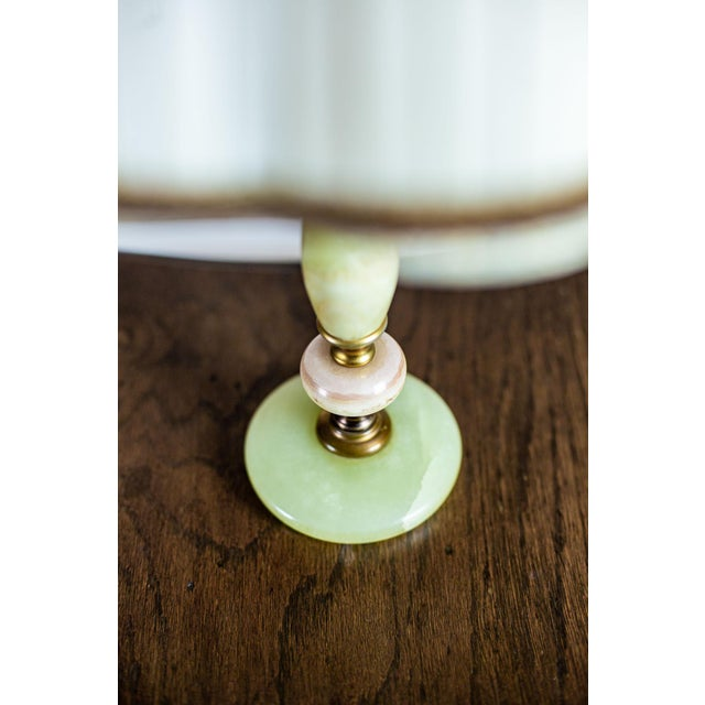 1950s Onyx Table Lamp For Sale - Image 9 of 10