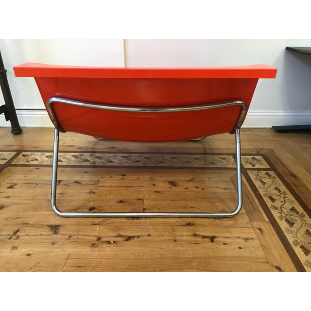2010s Kartell Piero Lissoni Orange Form Lounge Chair For Sale - Image 5 of 11