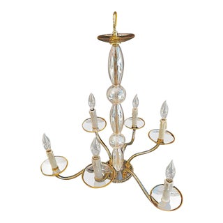 Hand Blown Murano Glass Chandelier For Sale