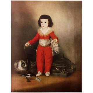 1950s Goya's Red Boy, First Edition Lithograph For Sale