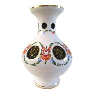 Moser Czechoslovakian Bohemian Mid-Century Cut Glass Vase For Sale