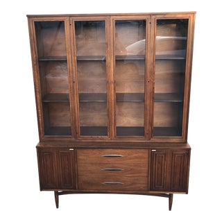 Mid Century Cabinet in Walnut by Broyhill For Sale