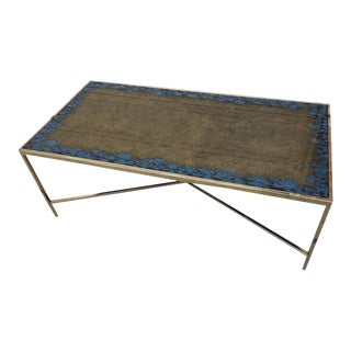 Hollywood Regency Transitional Style Coffee Table by Interlude For Sale