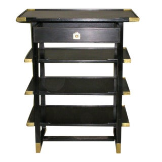 Pair of Ebonized End Tables