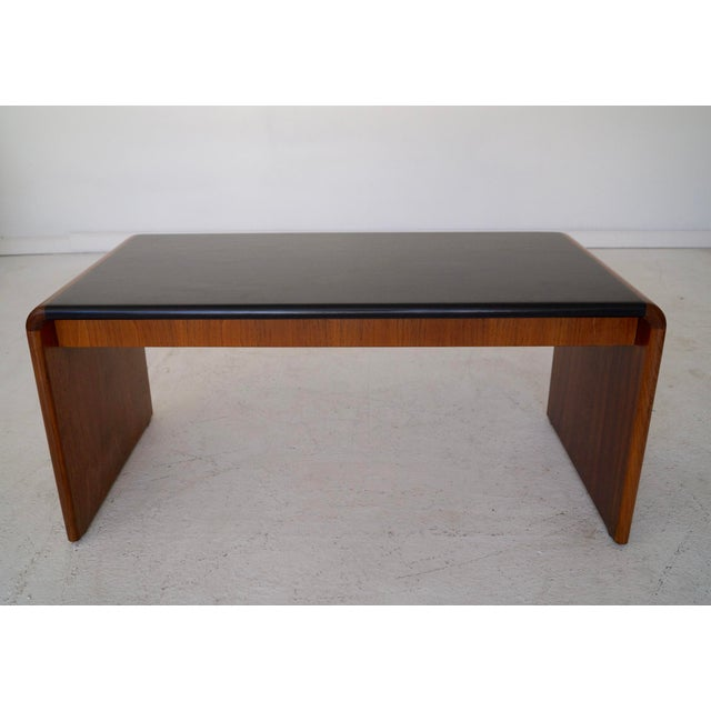 Mid-Century Teak Waterfall Edge Coffee Table - Image 5 of 11
