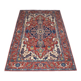 Afghan Heriz Handmade Rug - 6″ × 8″ For Sale