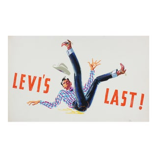 """Levi's Last"" Mid Century Illustration"