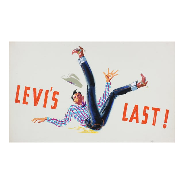 """Levi's Last"" Mid Century Illustration For Sale"