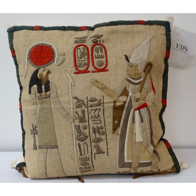 Antique Egyptian Appliqué Pillow - Image 2 of 3