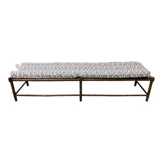 Extra Long Faux Bamboo Bench