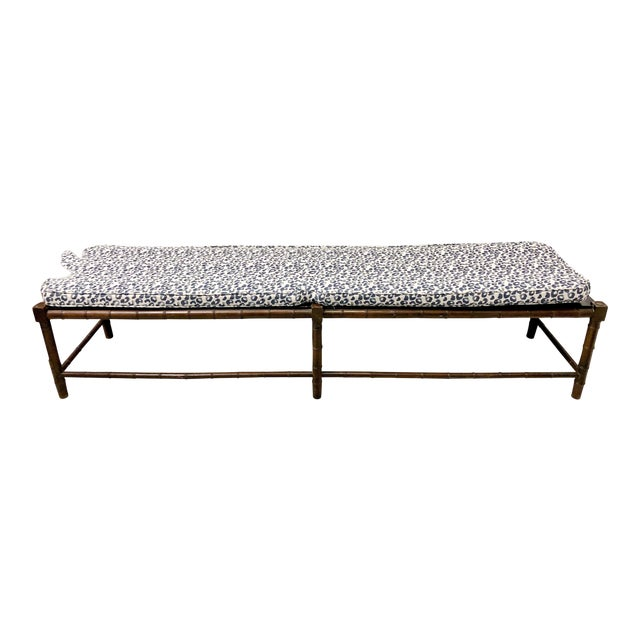 Extra Long Faux Bamboo Bench - Image 1 of 6