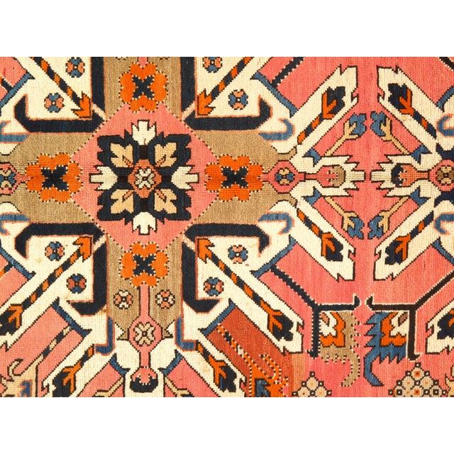 Islamic Late 19th Century Antique Russian Eagle Kazak Area Rug - 4′8″ × 9′9″ For Sale - Image 3 of 5