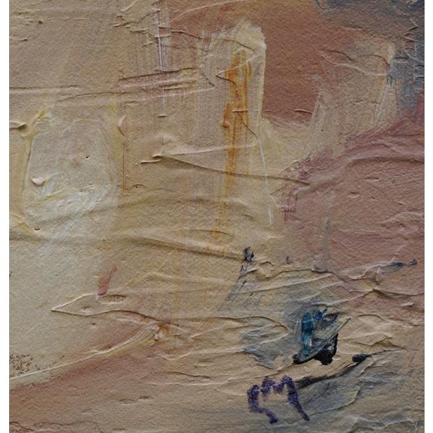"""2010s """"Out of the Blue"""" Abstract Landscape Painting by Laurie MacMillan For Sale - Image 5 of 6"""