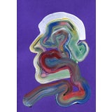 """Image of """"Purple Wiggle"""" Contemporary Abstract Figurative Acrylic Painting For Sale"""