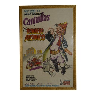 """1952 """"El Bombero Atomico"""" Cantinflas Litho Poster For Sale"""