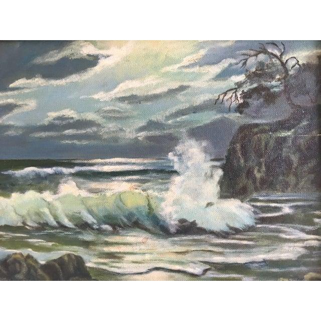 Coastal Seascape Oil Painting - Image 4 of 6
