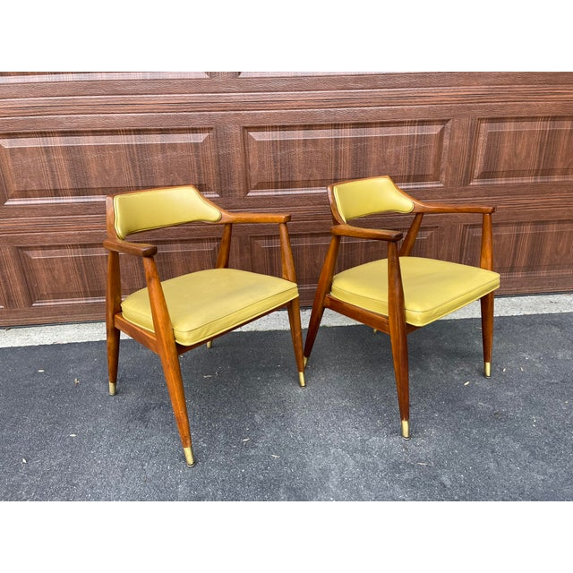 Mid 20th Century Walnut Jasper Armchairs - a Pair For Sale - Image 10 of 10