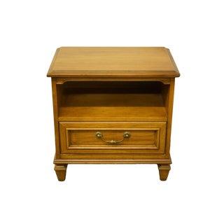 Late 20th Century Vintage Drexel Heritage Esperanto Collection Spanish Mediterranean Open Cabinet Nightstand For Sale