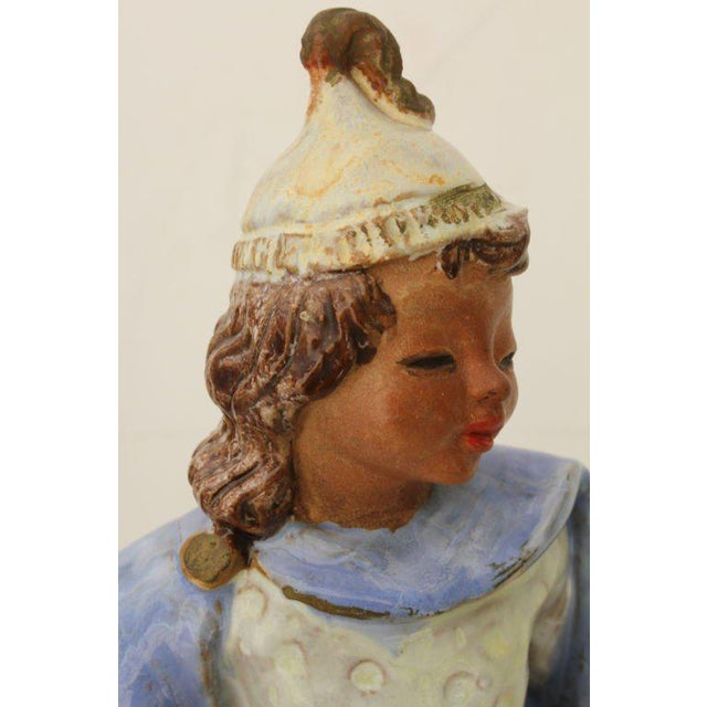 Austrian Secessionist Terracotta Figure Signed For Sale - Image 9 of 11