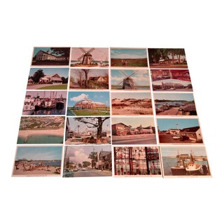 1950s Vintage New England Postcards - Set of 20 For Sale