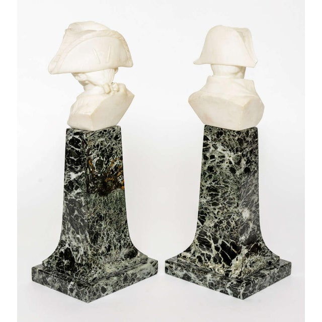 French Empire Style Marble and Alabaster Models of Napoleon and Frederick For Sale - Image 4 of 9