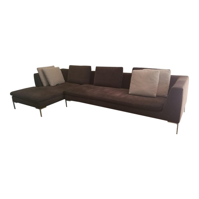 B&b Italia Charles Sectional Sofa Designed by Antonio Citterio For Sale