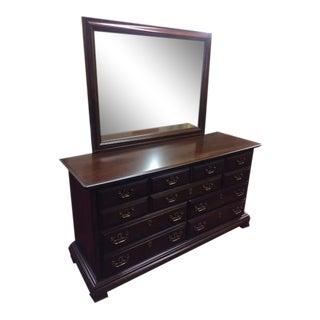 Vintage Kling Cherry Dresser With Mirror For Sale