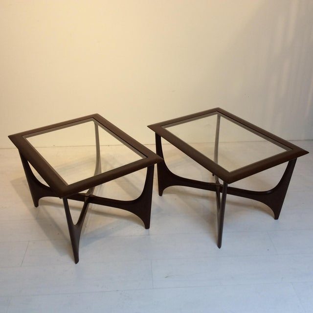 1950s Lane Side Tables - a Pair For Sale In Los Angeles - Image 6 of 10