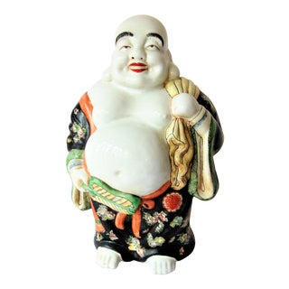 Vintage Chinese Porcelain Buddha Figurine For Sale