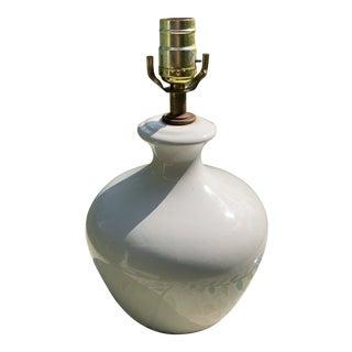 1960s White Ginger Jar Lamp For Sale