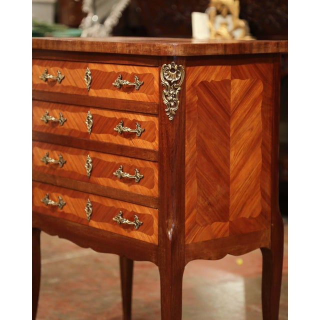 Early 20th Century Louis XV Walnut Marquetry Chest With Silverware, 145 Pieces For Sale - Image 9 of 13