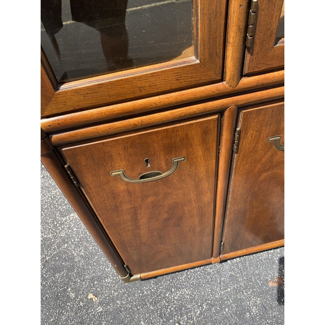 Contemporary Drexel Accolade Campaign China Cabinet For Sale - Image 3 of 12