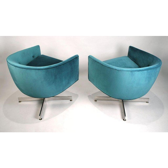 Milo Baughman for Thayer Coggin Milo Baughman Tilt and Swivel Lounge Chairs for Thayer Coggin For Sale - Image 4 of 11