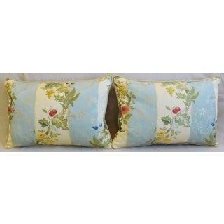 "Scalamandre Italian Silk Lampas Feather/Down Pillows 26"" X 18"" - Pair Preview"