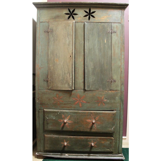 Charming example of an armoire from Minas Gerais Brazil. Vintage, may be made with antique wood. The style is to look...