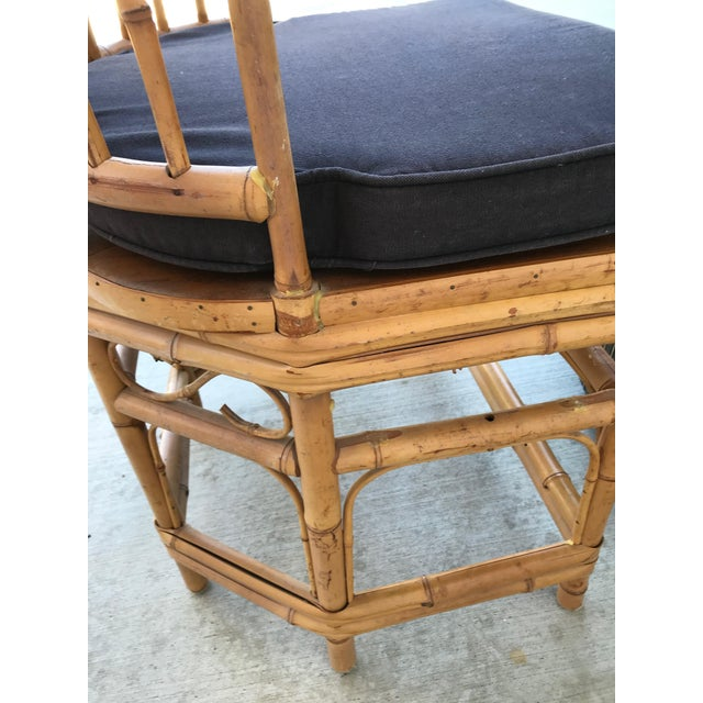 Bamboo Thomasville Brighton Pavillion Vintage Rattan Chair - Set of Four For Sale - Image 7 of 13