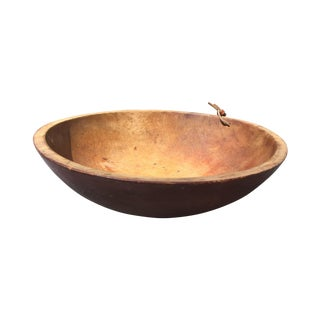 Antique Primitive Dough Bowl For Sale