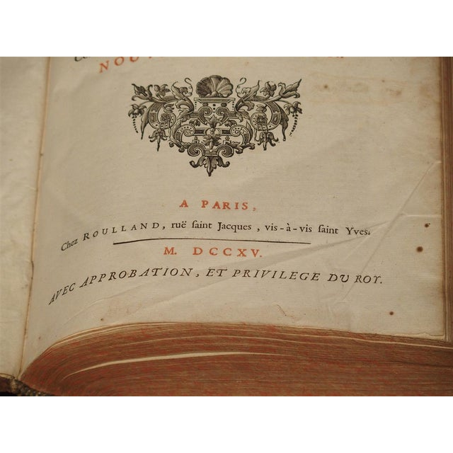 Gothic Set of 18th Century French Leather Bound Books, Les Vies Des Saints, 1715 For Sale - Image 3 of 13