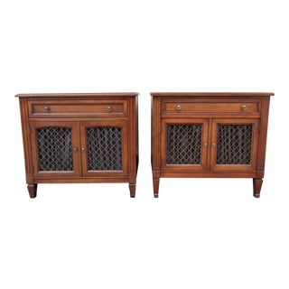 20th Century French Provincial Kindel Belvedere Regency Nightstands - a Pair For Sale