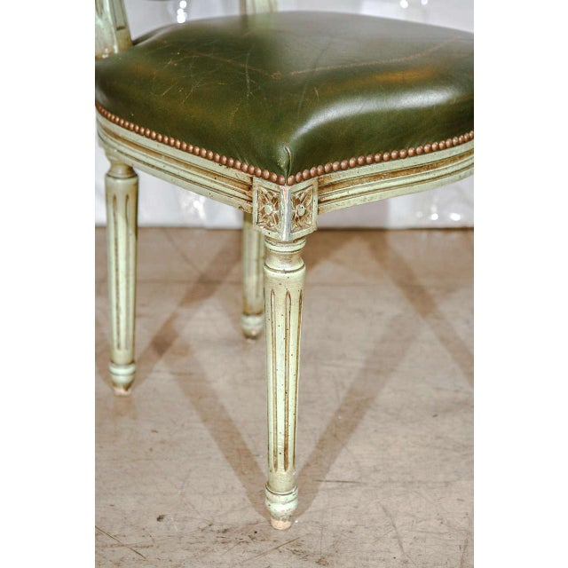 Set of Six French Louis XVI Dining Chairs For Sale In Los Angeles - Image 6 of 11