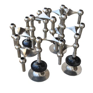 Set of Midcentury Nagel and Stoffi Modular Candleholders For Sale