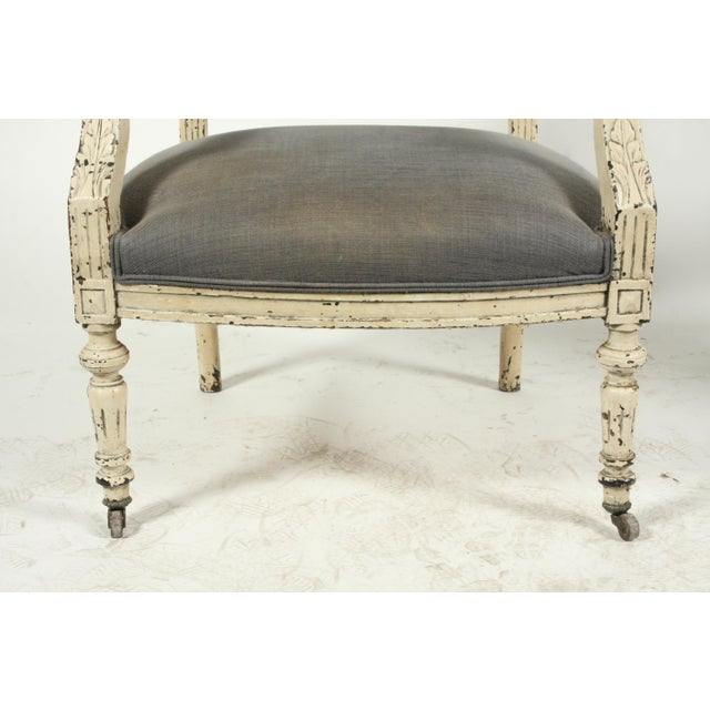 Late 19th-C. French Louis XVI-Style Armchairs, Pair For Sale In Nashville - Image 6 of 13