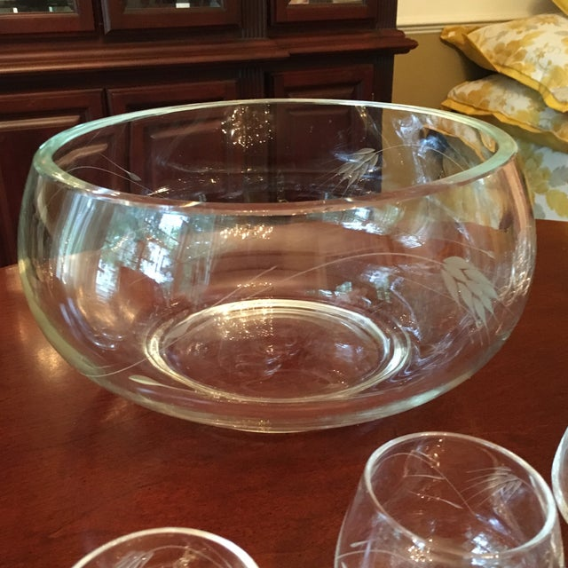 Crystal Ambassador to Italy's Crystal Punch Glasses & Bowl - Set of 73 For Sale - Image 7 of 12