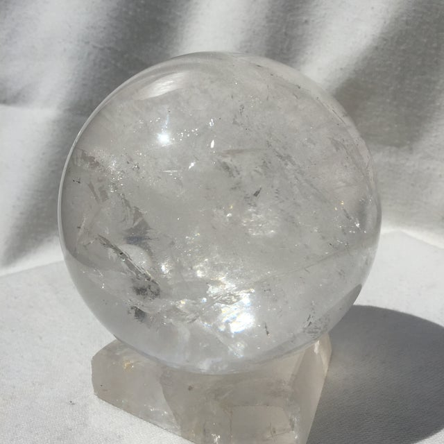 Large Quartz Crystal Ball - Image 4 of 9