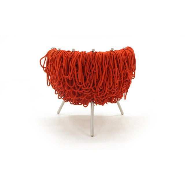 Vermelha Chair by Fernando and Humberto Campana for Edra, Red Rope, Aluminum For Sale In Kansas City - Image 6 of 8