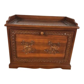 Vintage Carved Rosewood Storage Chest