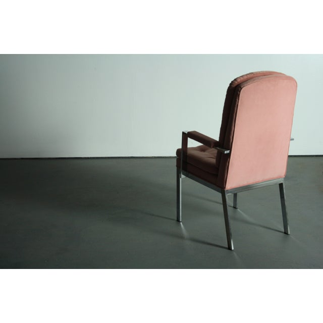Pink Milo Baughman for DIA Blush Dining Chairs - S/6 For Sale - Image 8 of 12